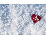 Frozen, Snow, Red Heart