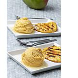 Fruity, Dessert, Mango ice cream