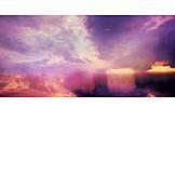 Sky, Sunset, Rain
