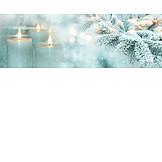 Weihnachtszeit, Kerzenlicht, Tannenzweig
