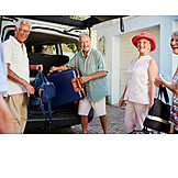 Departure, Vacation, Seniors, Travel