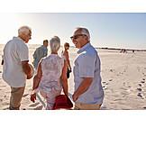 Beach, Walk, Seniors