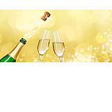 Sekt, Silvester, Feiern