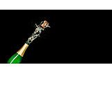 Celebrations, Champagne Bottle, Splash, Uncork