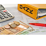 Finanzen, Bilanz, Kalkulation, Buchhaltung