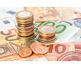 Euro, Münzstapel, Bargeld