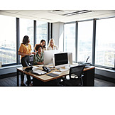 Office, Cooperation, Team, Organized Group