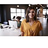 Portrait, Employees, Open Plan Office