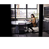 Business Woman, Office, Working