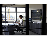 Business Woman, Meeting Room