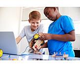 Zusammenarbeit, Schüler, Informatik