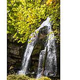 Waterfall, Funten Lake