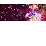 Party, Firework Display, Confetti