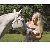 Frau, Pferd, Pferdeliebe