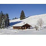 Winter, Hut, Lexenalm