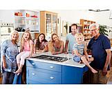 Küche, Familie, Generationen, Gruppenbild