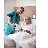 Showing, Patient, Nurse, Tablet-pc