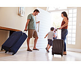 Departure, Family, Travel, Luggage
