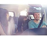 Happy, Car Trip, Family