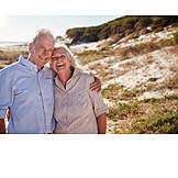Strand, Urlaub, Porträt, Seniorenpaar