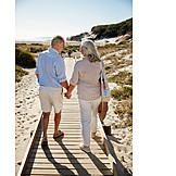 Beach, Vacation, Older Couple