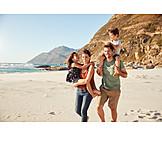 Strand, Spaziergang, Urlaub, Familie
