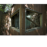 House, Window, Dilapidated