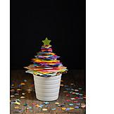 Multi Colored, Christmas Tree, Confetti