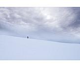 Snow, Up, Hiker