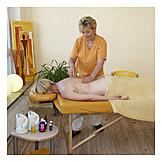 Massieren, ölmassage, Wellnessmassage