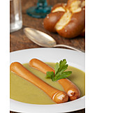 Sausages, Pea Soup