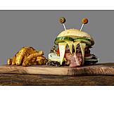 Snack, Halloween, Cheeseburger