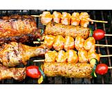 Fleischspieß, Grillfleisch, Barbecue