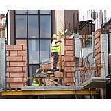 Bauarbeiter, Hausbau, Baustelle