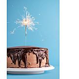Sparkler, Chocolate cake