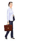 Geschäftsfrau, Aktentasche