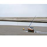 Beach, Sailboat