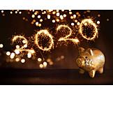Silvester, Glücksschwein, 2020