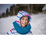 Girl, Winter, Portrait