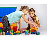 Mädchen, Spielen, Gemeinsam