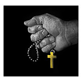 Religion, Kruzifix, Rosenkranz