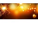 Silvester, Leuchten, Wunderkerze
