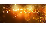 New Years Eve, Festive, Champagne Glasses