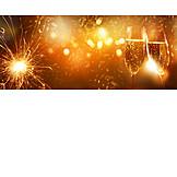 New Years Eve, Champagne, Firework Display