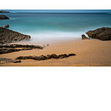 Strand, Dunst, Granitfels