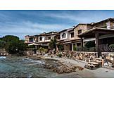 Wohnhaus, Strand, Sardinien