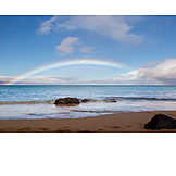 Strand, Regenbogen, Pazifikküste