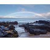 Strand, Felsen, Pazifikküste