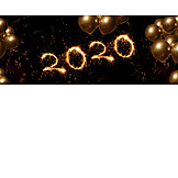 New Years Eve, Balloons, 2020