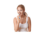 Young Woman, Teeth, Cleaning